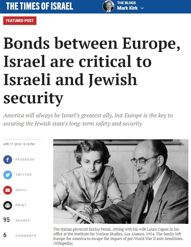 Bonds between Europe, Israel are critical to Israeli and Jewish